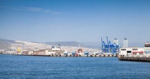Panoramic cityscape. Main port of Izmir, Turkey Stock Photos