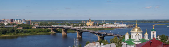Panoramic cityscape of Nizhny Novgorod. Stock Images