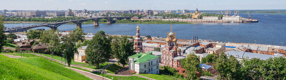 Panoramic cityscape of Nizhny Novgorod. Royalty Free Stock Image