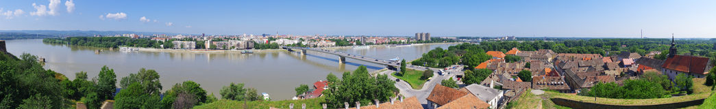 Panoramic cityscape of Novi Sad, Serbia Stock Images