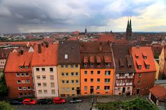 Panoramic cityscape of Nuremberg, Bayern, Germany Royalty Free Stock Images