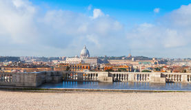 Panoramic cityscape of Rome, Italy in summer Stock Photos