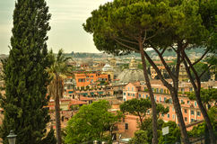 Panoramic cityscape of Rome. Italy. Panoramic view over the historic center of Rome, Italy stock photo