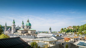 Panoramic cityscape of Salzburg, Austria Royalty Free Stock Image