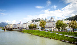 Panoramic cityscape of Salzburg, Austria Stock Photos