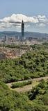 Panoramic cityscape of Taipei Royalty Free Stock Photos