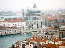 Panoramic cityscape of Venice with Santa Maria della Salute church, Veneto, Italy. Royalty Free Stock Photos