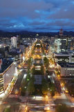 Panoramic cityscape view of southern Sapporo Royalty Free Stock Photography