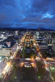 Panoramic cityscape view of southern Sapporo Stock Image