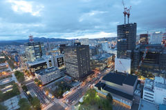 Panoramic cityscape view of southern Sapporo Stock Images