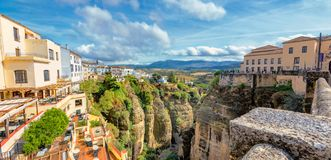 Tajo Gorge. Ronda, Andalusia, Spain royalty free stock image
