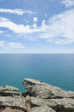 Panoramic cliff Lookout over ocean Royalty Free Stock Photo
