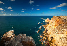 Panoramic of the cliffs Royalty Free Stock Photography
