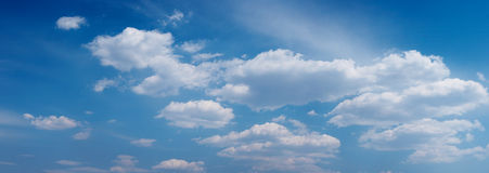 Panoramic cloudness Stock Photography