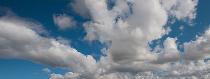 Panoramic Clouds Royalty Free Stock Photo