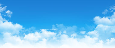 Panoramic cloudscape Royalty Free Stock Photography