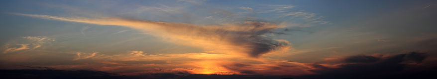 Panoramic cloudscape Royalty Free Stock Image