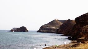 Panoramic of the coast-Almeria-Spain. Panoramic of the coast-Almeria-Andalusia-SPAIN Stock Photo