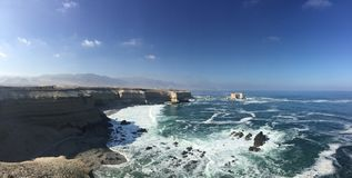 Panoramic of the coast near Antofagasta city Chile royalty free stock image