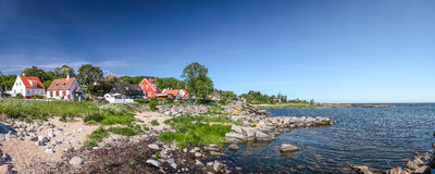 Panoramic of the coastal area on Bornholm Stock Photos