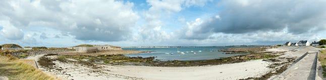 Panoramic of coastal Brittany Stock Photos