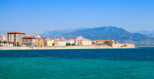 Panoramic coastal cityscape of Ajaccio, Corsica Stock Photos
