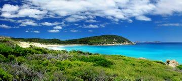 Panoramic Coastline. A Beautiful Panoramic Beach Landscape Royalty Free Stock Photography