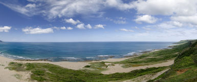 Panoramic coastline Stock Photo