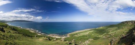 Panoramic coastline stock photo