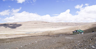 Panoramic cold desert in North Sikkim. Panoramic landscape mainly  a cold desert in north sikkim , India at a height of 17,100 feet above mean sea level Stock Image