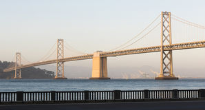 Panoramic Composition Bay Bridge San Francisco California Transportation Stock Images