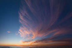 Panoramic composition of sunset and clouds Royalty Free Stock Images