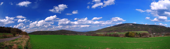 Panoramic country Royalty Free Stock Image