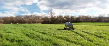 Panoramic countryside scene Royalty Free Stock Photography