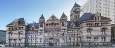 Panoramic of Court House, Toronto, the Old City Hall Stock Images