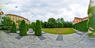 Panoramic courtyard Royalty Free Stock Image