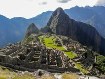 Panoramic day in Machu Picchu royalty free stock image