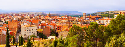 Panoramic day view of Teruel Royalty Free Stock Photos