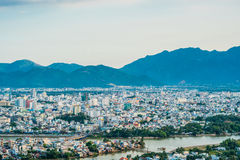 Panoramic daytime view of Nha Trang city, popular tourist destination in Vietnam Royalty Free Stock Photography