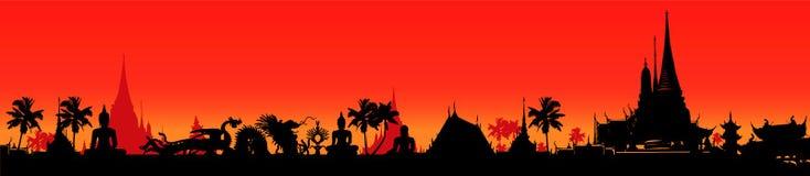 Panoramic decoration on Thailand Stock Image