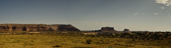 Panoramic desert landscape. A scenic view of Arches National Park in Utah, United States Stock Image