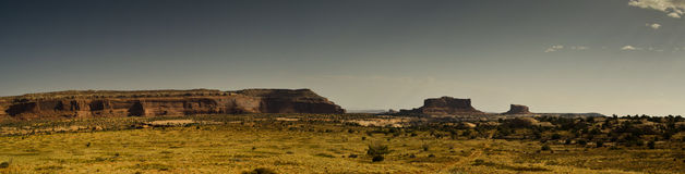 Panoramic desert landscape. A scenic view of Arches National Park in Utah, United States Royalty Free Stock Photo