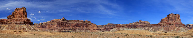 Panoramic desert landscape Royalty Free Stock Photo