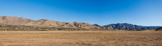 Panoramic Desert Mountains High Desert California Stock Images