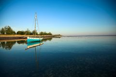 Free Panoramic Dhow And Ocean Stock Images - 2639414