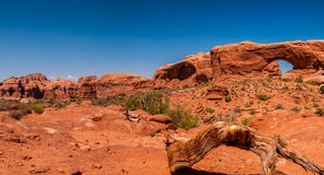 Panoramic of Double Arch Royalty Free Stock Photos