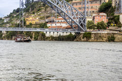 Panoramic from Douro river tour boat Stock Photography