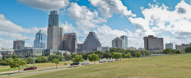 Panoramic downtown Austin royalty free stock image