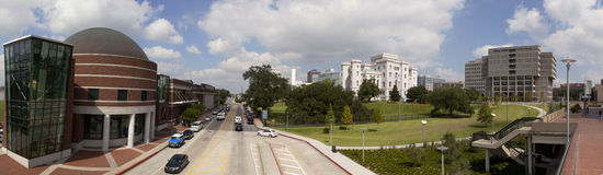 Panoramic of Downtown Baton Rouge, Louisiana Stock Photo