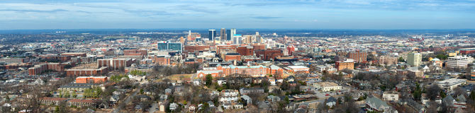 Panoramic of downtown Birmingham, Alabama Stock Photo